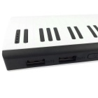 PS-15000 20000mAh Piano Style Power Bank - White + Black