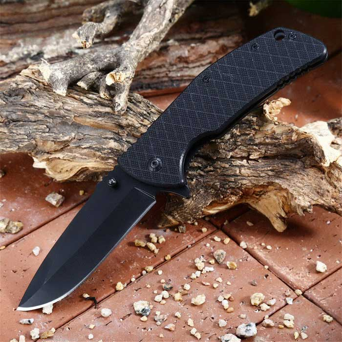 Outdoor Multi-function Folding Knife - Black