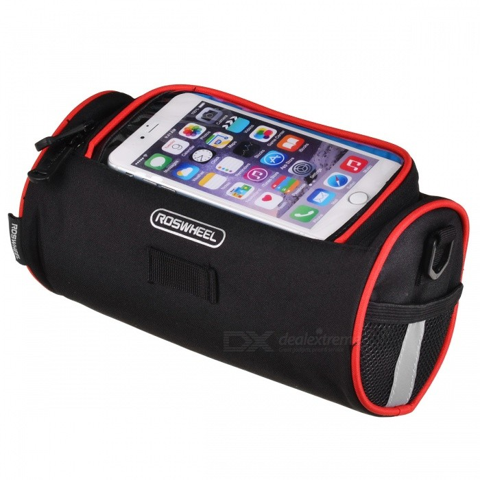 ROSWHEEL Bicycle Front Bag Handlebar Package Can Put Mobile Map