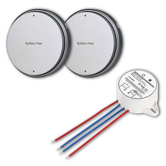 Battery-free 2-Way Wireless Waterproof Remote Control Light Switches