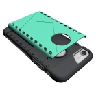 Protective PC Back Case for IPHONE 7 - Green + Black