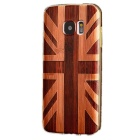 Metal Frame + 3D Painting Wood Grain Back Cover for Samsung Galaxy S7