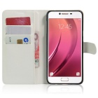 Lichee Pattern Protective Case for Samsung Galaxy C7 - White