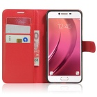 Lichee Pattern Protective Case for Samsung Galaxy C7 - Red