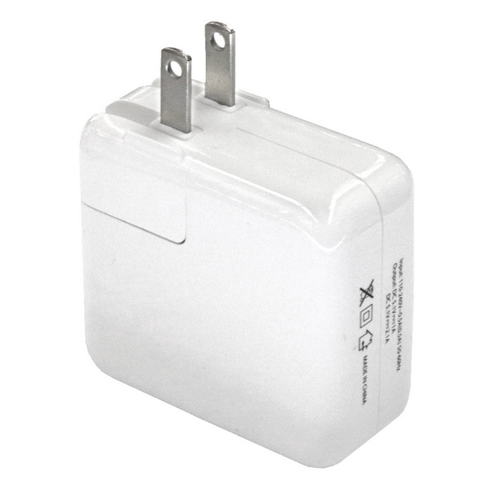 1-to-2 4-Port USB AC 110 ~ 240V 4A Carregador - Branco (US Plugs)