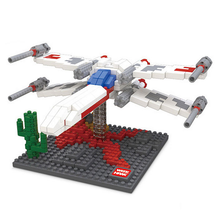 3D Particles Assembled X-Wing Fighter Puzzle Toys