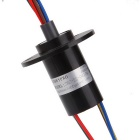 High Current Slip Ring for Capsule 6 Circuits - Black (10A/Circuit)