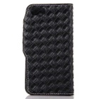 Mesh PU + TPU Flip Wallet Leather Case w/ Stand for IPHONE 7 - Black