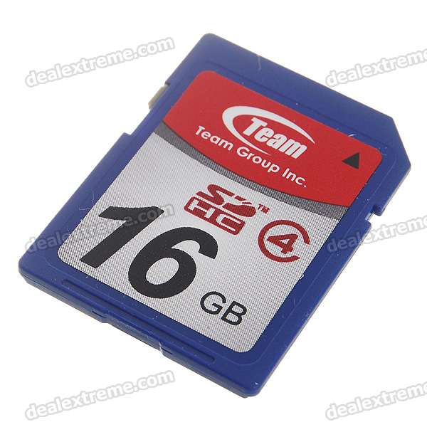 Genuine Team Group SDHC SD Memory Card - 16GB (Class 4)