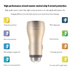 Hat-Prince 2-USB Car Charger / Metal Emergency Hammer - Golden
