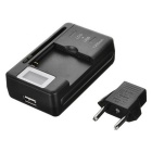 "0.8"" LCD Universal USB AC Power Travel Charger Battery Charging Dock"