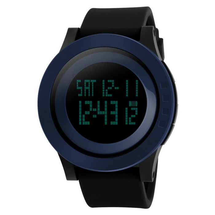 SKMEI 1142 LED Digital Sports Wrist Watch - Black + Blue (1 * CR2025)Sport Watches<br>Form  ColorBlueModel1142Quantity1 DX.PCM.Model.AttributeModel.UnitShade Of ColorBlueCasing MaterialPCWristband MaterialABS+PU/SportSuitable forAdultsGenderUnisexStyleWrist WatchTypeSports watchesDisplayDigitalBacklightYesMovementDigitalDisplay Format12/24 hour time formatWater ResistantWater Resistant 5 ATM or 50 m. Suitable for swimming, white water rafting, non-snorkeling water related work, and fishing.Dial Diameter5.2 DX.PCM.Model.AttributeModel.UnitDial Thickness1.3 DX.PCM.Model.AttributeModel.UnitWristband Length27 DX.PCM.Model.AttributeModel.UnitBand Width2.1 DX.PCM.Model.AttributeModel.UnitBattery1 x CR2025Packing List1 * Watch<br>