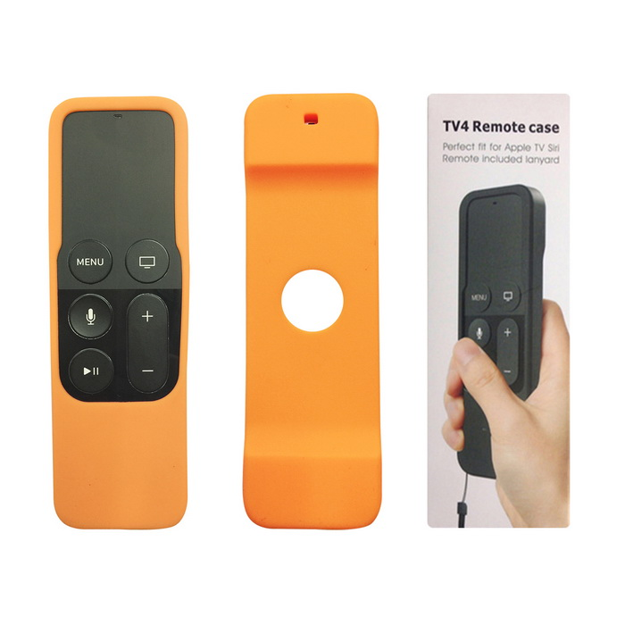 Apple TV Remote Control Case for Apple TV 4th Generation - OrangeOther TV Accessories<br>Form  ColorOrangeMaterialSiliconeQuantity1 DX.PCM.Model.AttributeModel.UnitShade Of ColorOrangePacking List1 * Remote Case (with Lanyard)<br>