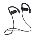 Sport impermeable inalámbrico Bluetooth V4.1 Earhook auricular - Negro