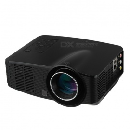 Android 4.2 1500lm LED-projector w / 1GB RAM, 4GB ROM - Black (US stekkers)
