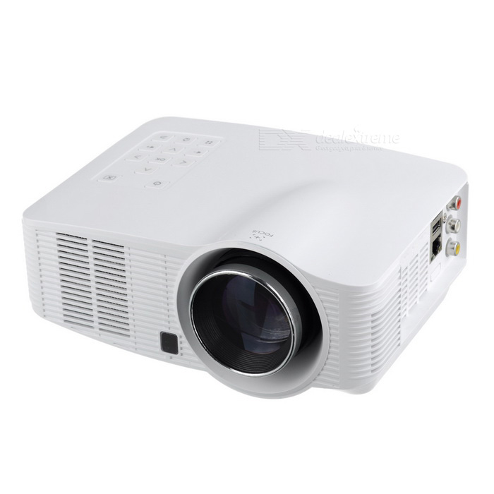 Android 4.2 1500lm LED Projector w/ 1GB RAM, 4GB ROM - White (US Plugs)Projectors<br>Form  Color White US Plug)BrandOthers,-Model3018Quantity1 DX.PCM.Model.AttributeModel.UnitMaterialABSShade Of ColorWhiteOperating SystemAndroid 4.2.2TypeLCDChipsetARMBrightness1000~1999 lumensBrightness1500 DX.PCM.Model.AttributeModel.UnitMenu LanguageEnglish,French,German,Italian,Spanish,Portuguese,Russian,Vietnamese,Polish,Greek,Danish,Norwegian,Japanese,Korean,Hungarian,Slovak,Czech,Romanian,Swedish,Finnish,Chinese Simplified,Chinese Traditional,SerbianBuilt-in SpeakersYesLife Span22000 DX.PCM.Model.AttributeModel.UnitEmitter BINLEDLens EffectsTelescopeDisplay Size50~200Aspect RatioOthers,16:9/4:3Contrast Ratio400:1Pixels1.44MPNative Resolution800 x 600Maximum Resolution2KMaximum Resolution1920 * 1080Throw Distance1.1~4mBuilt-in Memory / RAM1GBStorage4GBExternal MemoryTF, up to 16GBAudio FormatsMP3,Others,MPEG-1, MPEG-2Video FormatsRM,RMVB,AVI,MOV,MP4,FLV,DAT,MPEG,H.264,MPEG2,MPEG4Picture FormatsJPEG,BMP,GIF,TIFFInput ConnectorsAV,USB,HDMI,WiFiInput ConnectorsTF, video, audio, USB, RJ45Output ConnectorsAudio, HDMI, AVInput Video CompatibilityAnalog RGBPower Consumption80W &amp; OverPower Consumption90WPower Supply100~240VPower AdapterUS PlugCertificationCE, FCC, RoHSPacking List1 * Projector1 * Power cable (129+/-2cm)1 * AV cable (100 +/-2cm)1 * Remote control (2 * AAA, not included)1 * 100~240V power adapter (146+/-2cm)1 * English user manual<br>