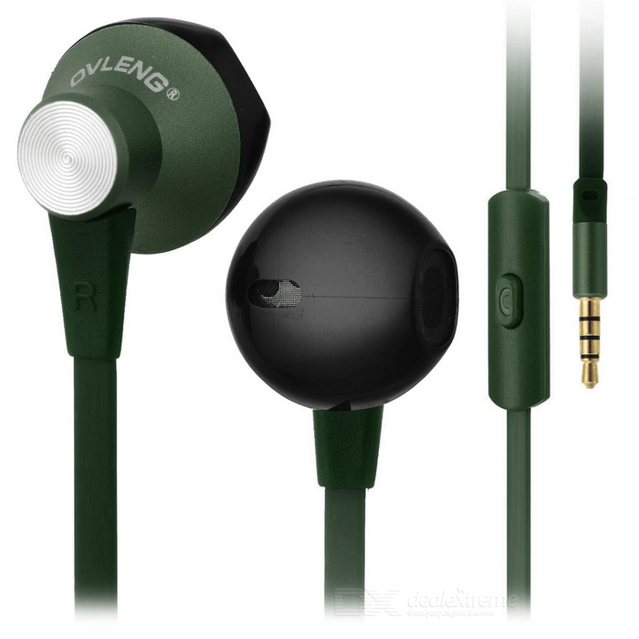 Ovleng ip-380 Universal 3.5mm Plug Wired In-Ear Earphones - Green
