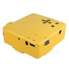 HD Mini LED Home Theater Projector - Yellow (US Plug)