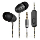 Ovleng ip-340 Universal 3.5mm Plug Wired In-Ear Earphones - Brown