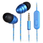 Ovleng ip-340 universal conector de 3,5 mm con cable auriculares intra-auriculares-azul