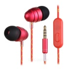 Ovleng ip-340 Universal 3.5mm Plug Wired In-Ear Earphones - Red