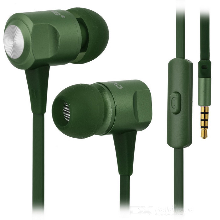 Ovleng ip-360 Universal 3.5mm Plug Wired In-Ear Earphones - Green