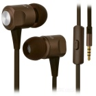 Ovleng ip-360 Universal 3.5mm Plug Wired In-Ear Earphones - Brown