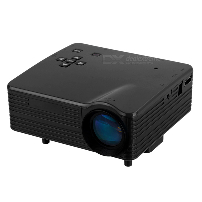 Mini LED HD Projector w/ HDMI / VGA / SD/ USB2.0 / AV -Black (US Plugs)