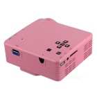 HD Mini LED Home Theater Projector - Pink (US Plugs)