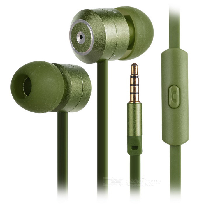 Ovleng ip-350 Universal 3.5mm Plug Wired In-Ear Earphones - Green