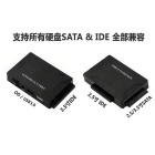 CY U3-292 USB 3.0 to SATA IDE ATA Data 3-in-1 Adapter - Black