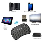 i8 bakgrundsbelyst Mini Wireless Keyboard Touchpad - Svart