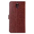 Wallet Case w/ Stand / Card Slots for Oneplus 3 - Brown