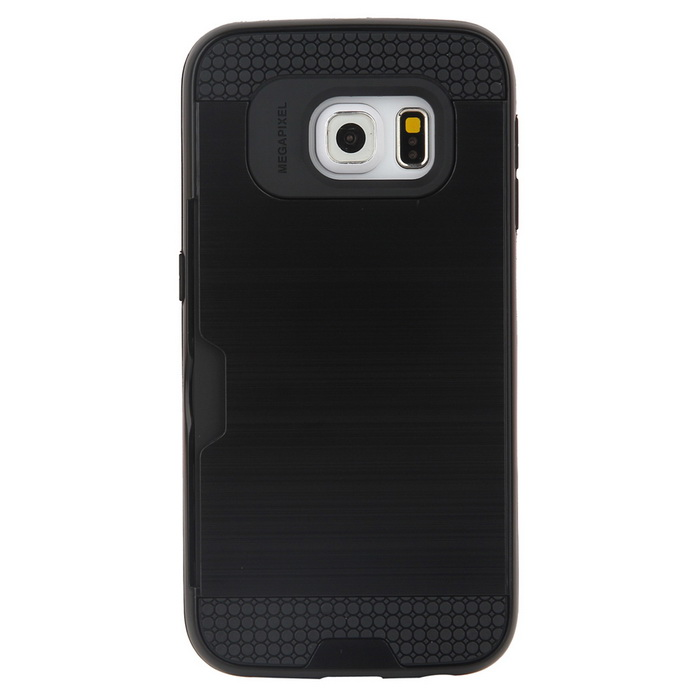 Wiredrawing TPU Phone Back Case w/ Card Slots for Samsung Galaxy S6