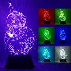 3D Stereoscopic Star Wars Robot LED Night Light Colorful Gradient Lamp