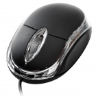 800DPI USB Optical Mouse - Black (120CM-Cable)