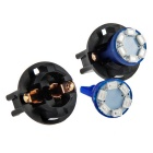 QOOK 12V 0.2W T10 6 LED SMD Instrument Panel Dash Light Bulbs Blue