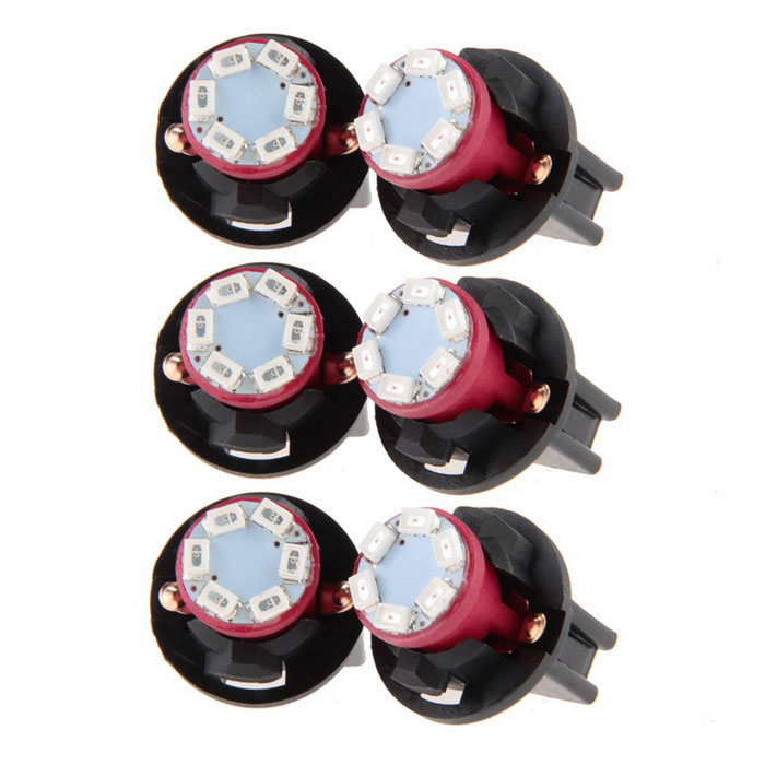 QOOK 12V 0.2W T10 6 LEDs 1210 SMD Instrument Panel Dash Light Bulbs