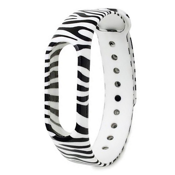Zebra Stripe Pattern Replacement TPU Wrist Band for Xiaomi MI Band 2