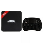 Quad-Core Android 5.1 Smart TV Box Player w/ 1GB RAM, 8GB ROM w/ OURSPOP R7 Baklit keyboard