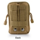 KICCY Tactical Molle Bag Belt Waist Pack for Samsung, IPHONE - Khaki