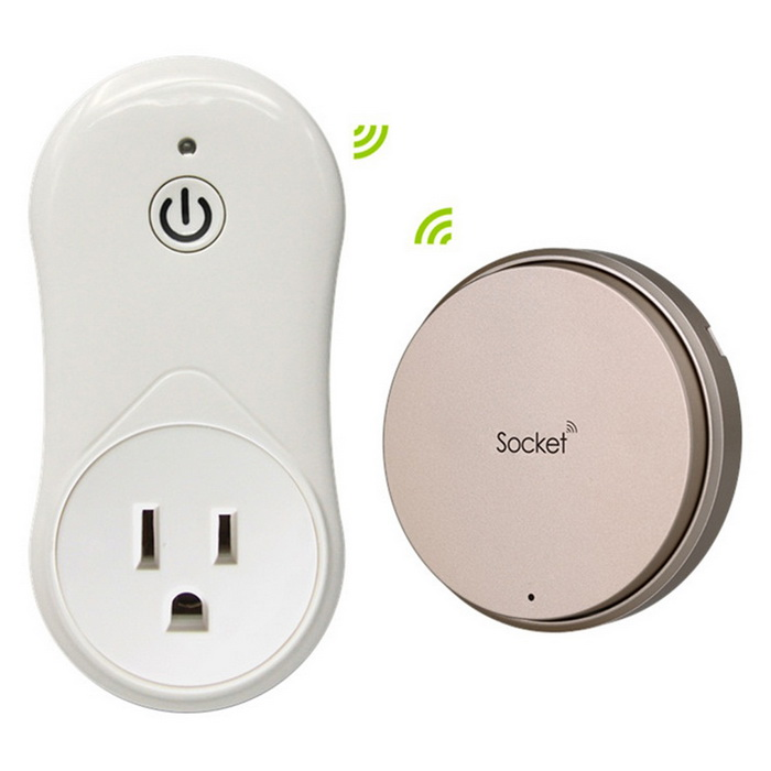 Self-powered RF Smart Wireless Power Socket Outlet With Remote Control