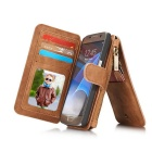 Genuine Leather Multifunction Wallet Case Cover For Samsung Galaxy S7