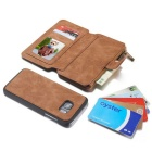 Genuine Leather Multifunction Wallet Case For Samsung Galaxy S7 Edge