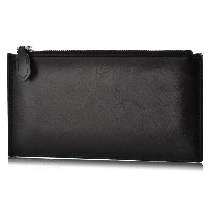 BLCR Leather Wallet Case Hand Bag for IPHONE, Samsung, Xiaomi - Black
