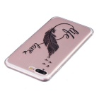 Life Love Pattern TPU Protective Case for IPHONE 7 Plus - Transparent