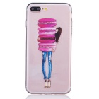 Cake Girl Pattern TPU Protective Case for IPHONE 7 Plus - Transparent