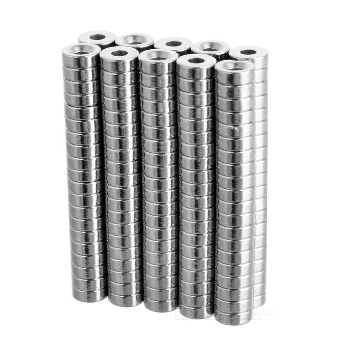 8 * 3mm Round NdFeB Magnets - Silvery White (200 PCS)