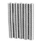 8*3mm Cylindrical NdFeB Magnet w/ Hole - Silvery White (100PCS)