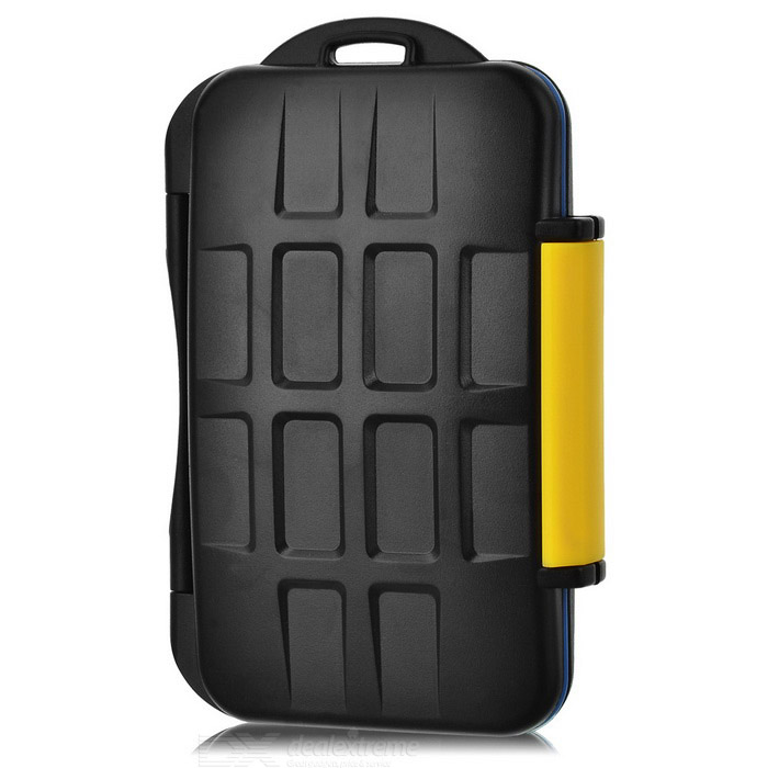 JJC MC-3 Water Resistant SD / CF / MS / XD Card Storage Case - BlackBags and Cases<br>Form  ColorBlackBrandJJCModelMC-3Shade Of ColorBlackMaterialABSQuantity1 DX.PCM.Model.AttributeModel.UnitWater ResistantFor daily wear. Suitable for everyday use. Wearable while water is being splashed but not under any pressure.Anti-ShockYesPacking List1 * Case<br>